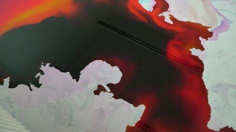 Stephanie Lüning, Farbraum I, 600cm x 700cm, water & ink, 2010