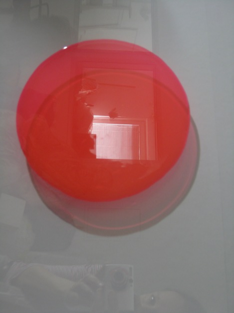 Stephanie Lüning, o.T., window color on glass, 50cm x 65cm, 2011