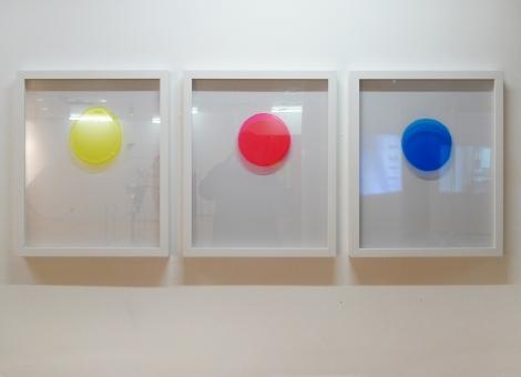 Stephanie Lüning, o.T., window color on glass, 50cm x 65cm, 2011