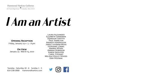 I am an Artist 6x11 20192